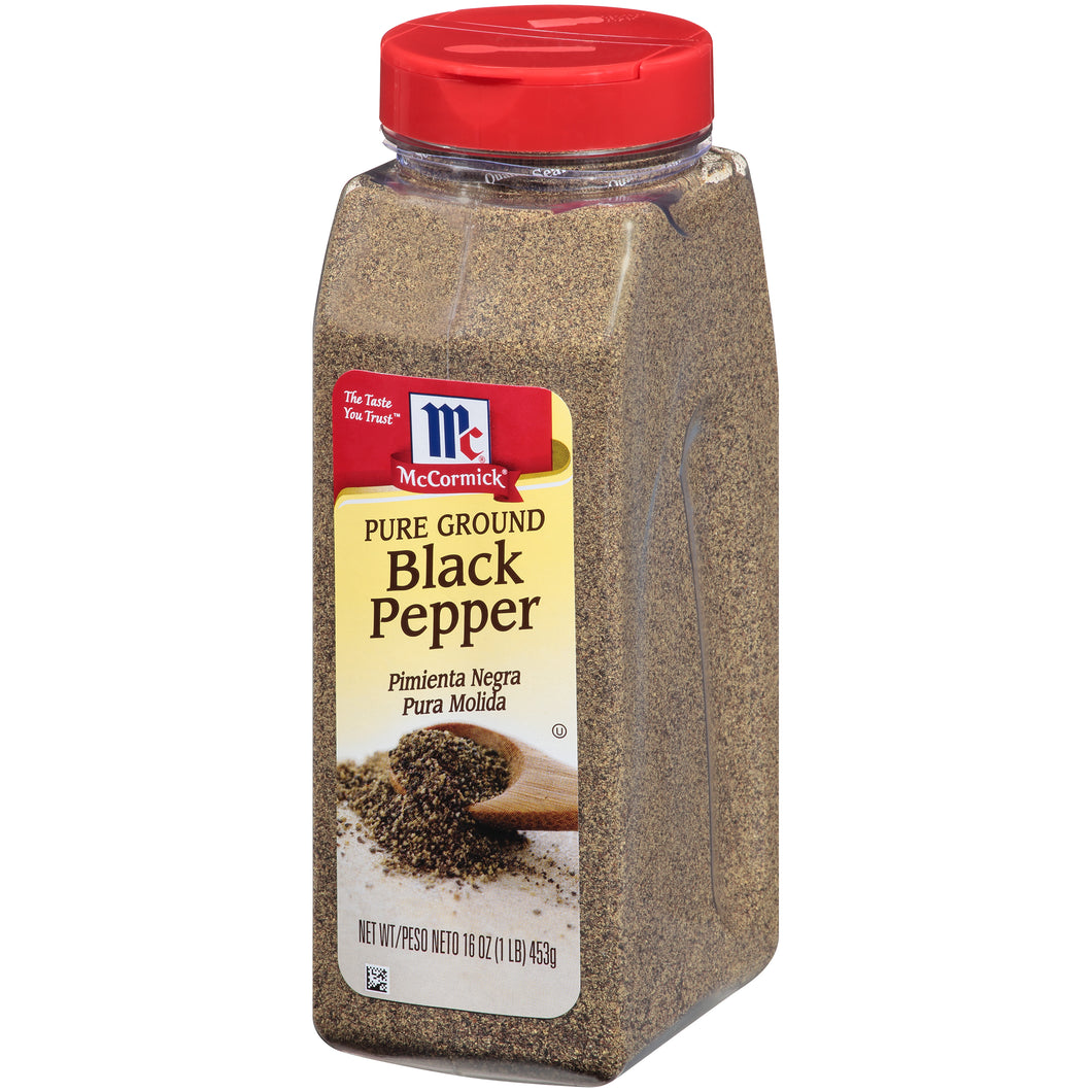 McCormick Pure Ground Black Pepper, 16 oz