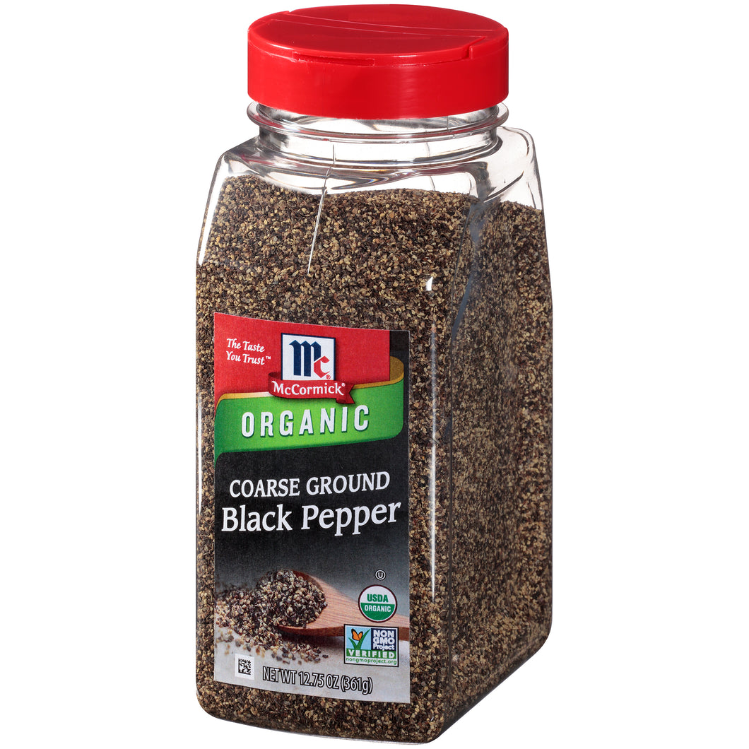 McCormick Organic Coarse Ground Black Pepper, 12.75 oz