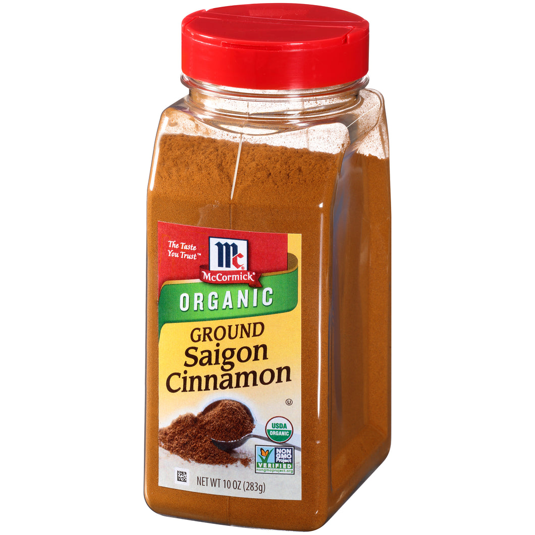 McCormick Organic Ground Saigon Cinnamon, 10 oz