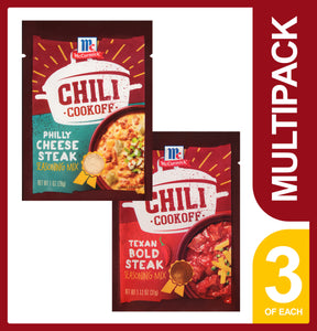 McCormick Chili Cookoff - Philly Cheese Steak & Texas Bold Steak (6-Pack)