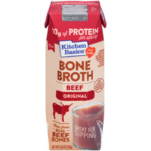 Load image into Gallery viewer, Kitchen Basics Original Beef Bone Broth, 8.25 fl oz (6-Pack)