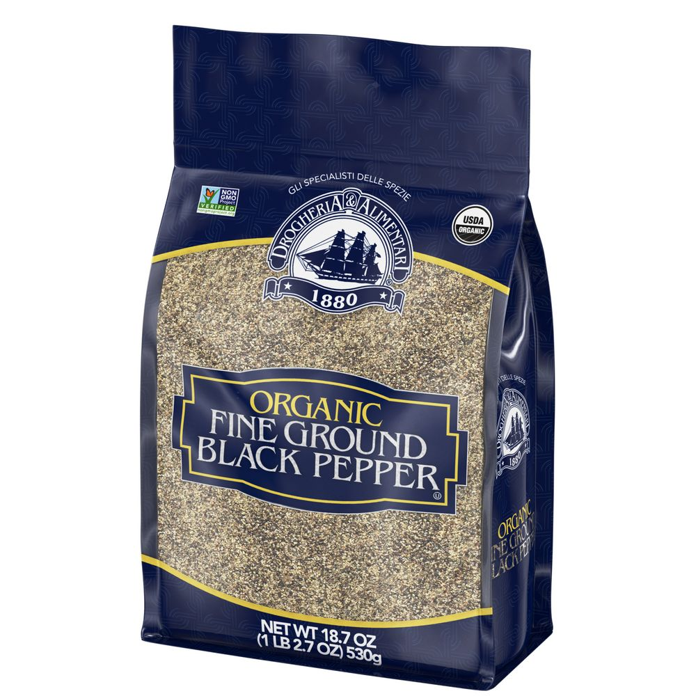 Drogheria & Alimentari Organic Fine Ground Black Pepper, 18.7 oz