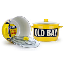 Load image into Gallery viewer, OLD BAY® 18 qt. Porcelain-Enameled Steel Stock Pot