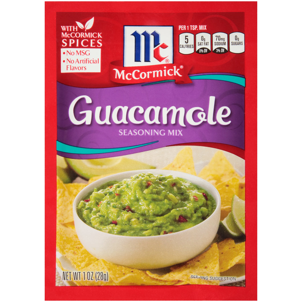McCormick Guacamole Seasoning Mix, 1 oz (12-Pack)