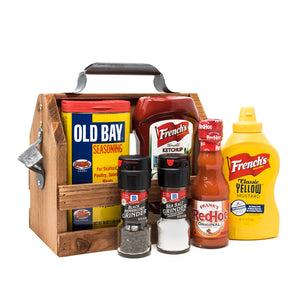 Grab and Go Grilling Condiment Caddy for Old Bay Fans