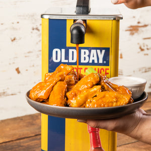 OLD BAY® Hot Sauce Dispenser & 2-Pack of 1.5 Gallon Pouches