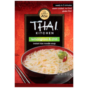 Thai Kitchen Gluten Free Lemongrass & Chili Instant Rice Noodle Soup, 1.6 oz (12-Pack)