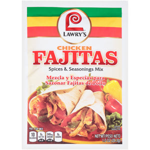 Lawry's Chicken Fajita Seasoning Mix, 1 oz (12-Pack)