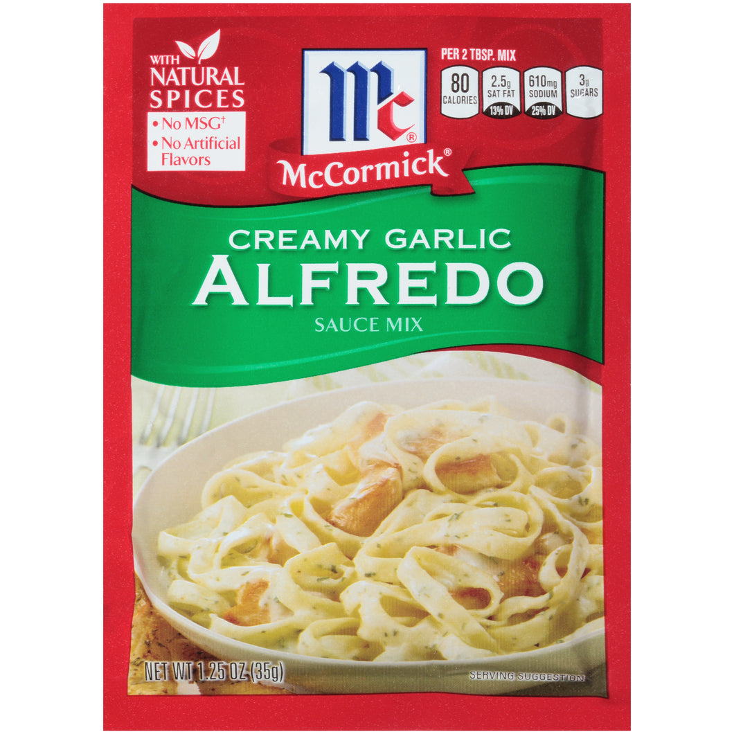 McCormick Creamy Garlic Alfredo Sauce Mix, 1.25 oz (4-Pack)