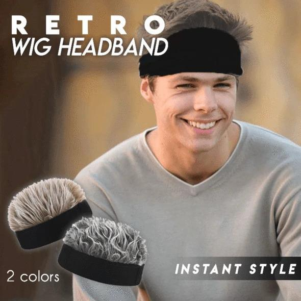 Men's Retro Wig Headband