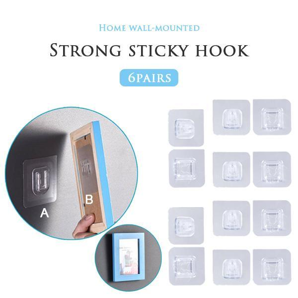 Double-sided Adhesive Wall Hooks 12PCS