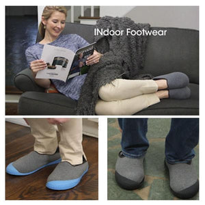 Unisex Slippers with Removable Sole
