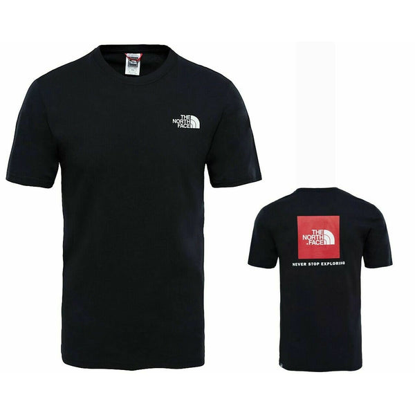 The North Face Black and Red Box T-Shirt