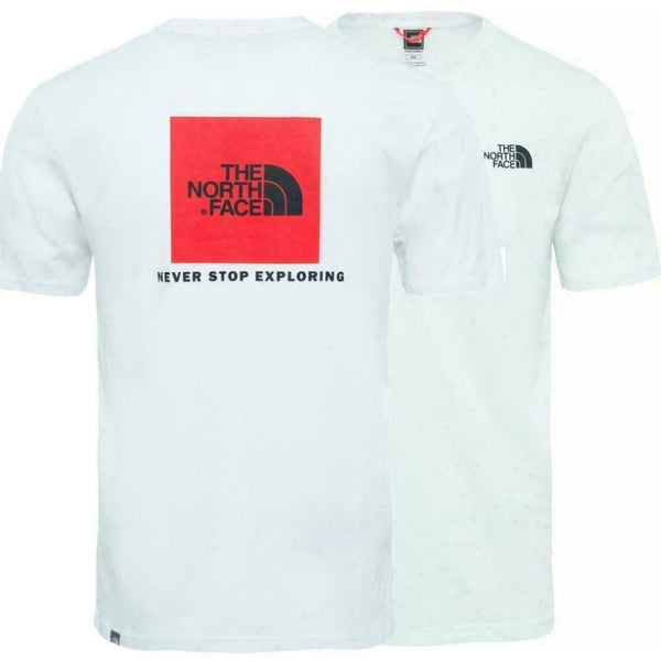 The North Face White and Red Box T-Shirt