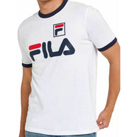 FILA White Big Logo Ringer T-shirt