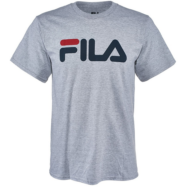 FILA Grey with Navy Big Logo T-Shirt