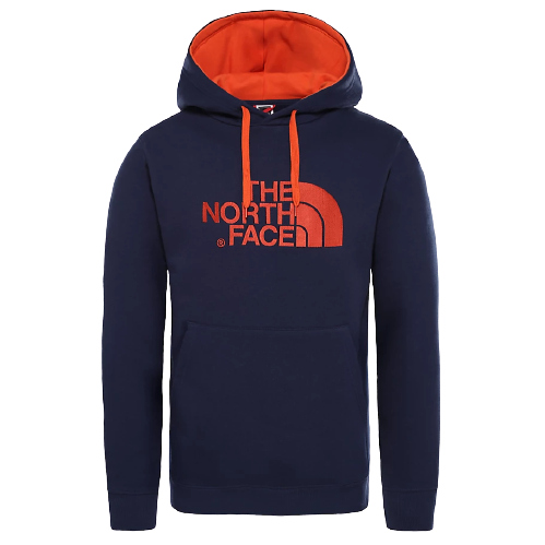 The North Face Navy and Orange Big Logo Hoodie