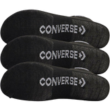 Converse 3 Pack of Black Quarter Length Socks with Logo on Top and Bottom
