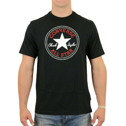 Converse Black Big Logo Short Sleeve Crew Neck T-Shirt