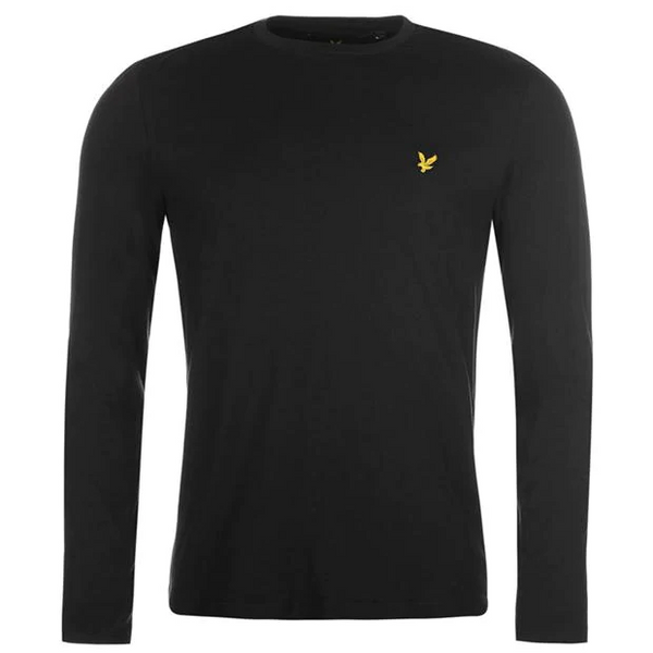 Lyle and Scott Black Long Sleeve Crew Neck T-Shirt