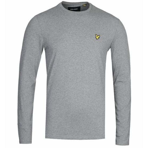 Lyle and Scott Grey Long Sleeve Crew Neck T-Shirt