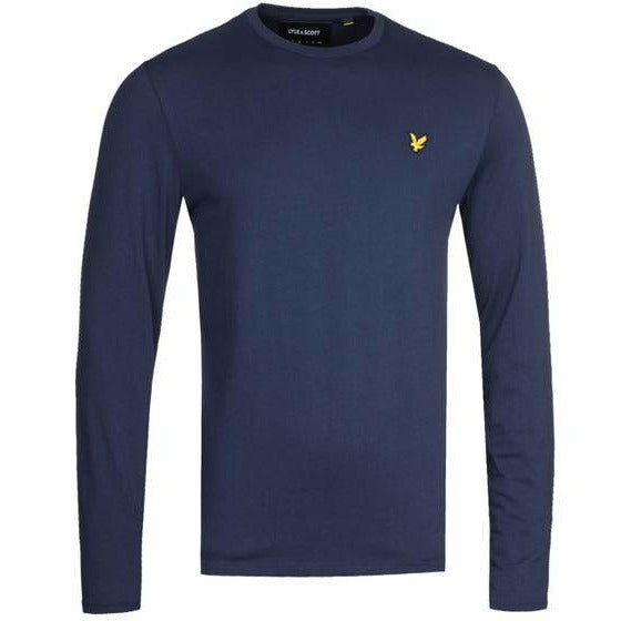 Lyle and Scott Navy Long Sleeve Crew Neck T-Shirt