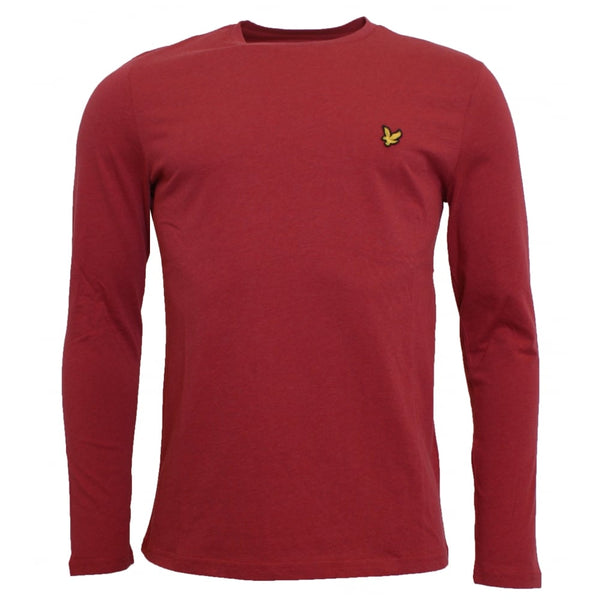 Lyle and Scott Red Long Sleeve Crew Neck T-Shirt