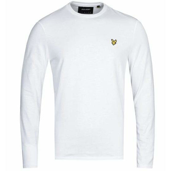 Lyle and Scott White Long Sleeve Crew Neck T-Shirt