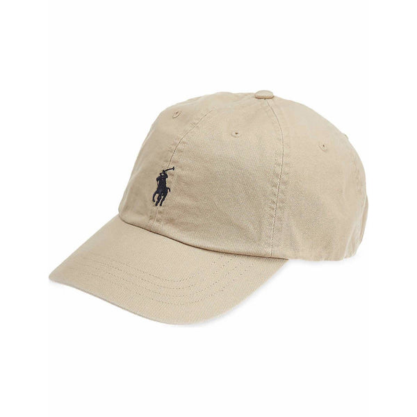 Ralph Lauren Beige and Black Pony Baseball Cap