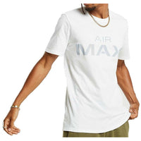 Nike Air Max White Tee with Light Grey Logo