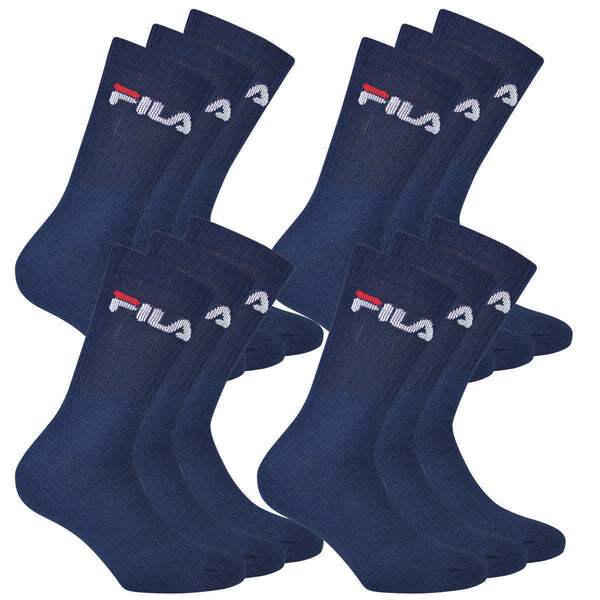 12 Pair FILA Men's Sport Socks Tennis Socks F9505