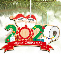 Personalised Christmas Bauble Survived Family Xmas Tree Decoration Lockdown Year