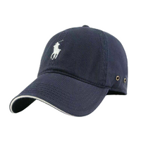 Ralph Lauren Navy Baseball Cap with White Pony Logo