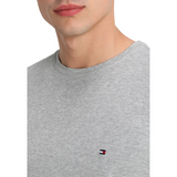 Tommy Hilfiger Grey Small Logo Short Sleeve Crew Neck T-Shirt