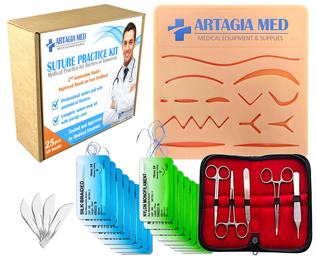 Suture Kit with tools in detail