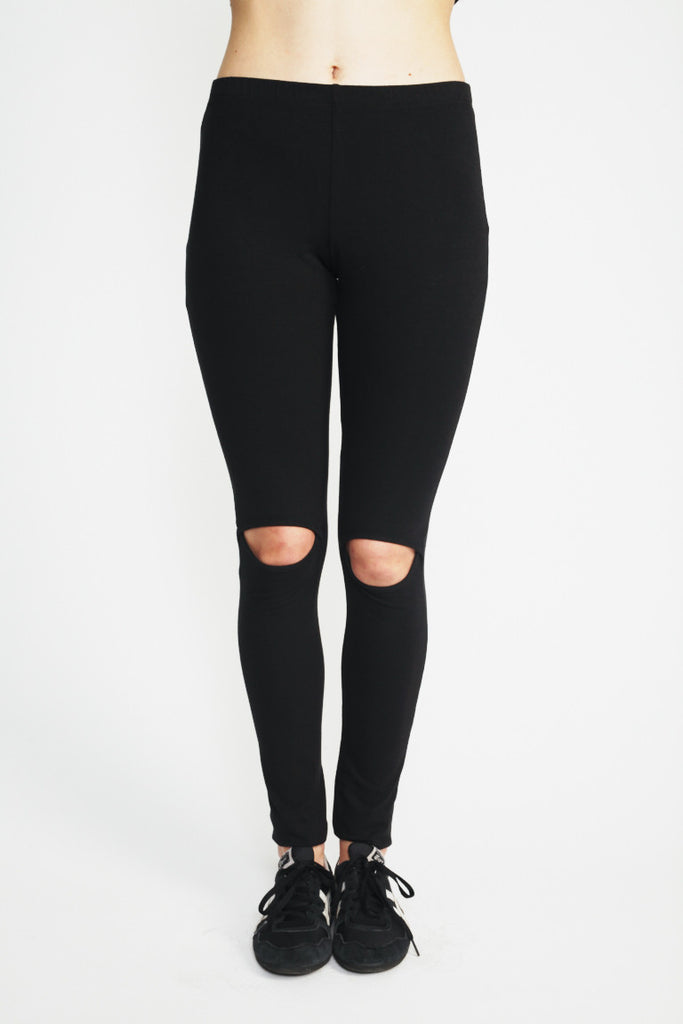 Cut Out Knee Legging