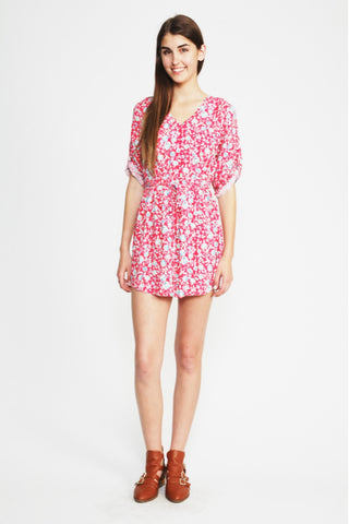 The Coral Floral Dress