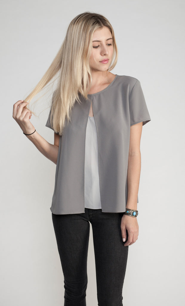THE LAYERED FLYAWAY BLOUSE