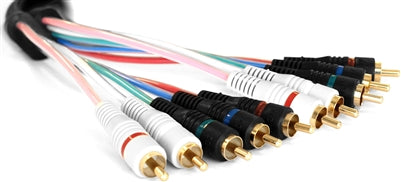 Omicron® | Audio Video Cables | Superflex Component, Black 6ft - Conversions Technology