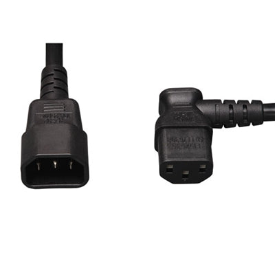 Power Cable | AC Power Extension Cable - C13 Right Angle to C14, 3ft - Conversions Technology