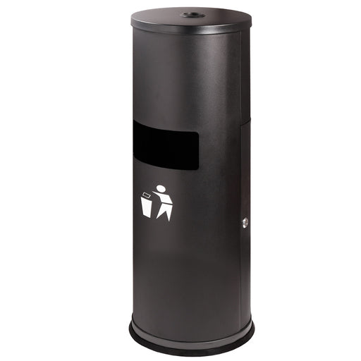 PPE | Sanitation Station | Wipes Dispenser with Built-In Trash Receptacle, Sleek Black - Conversions Technology