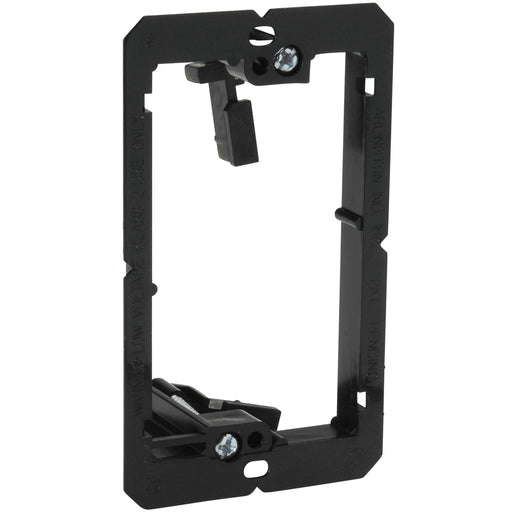 AV Wall Plate | Low Voltage Bracket | 1 Gang, Black Easy Install - Conversions Technology