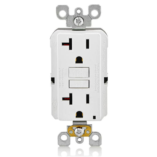 AC Outlet | 20 Amp GFCI Decorator Residential-Commercial (White) - Conversions Technology