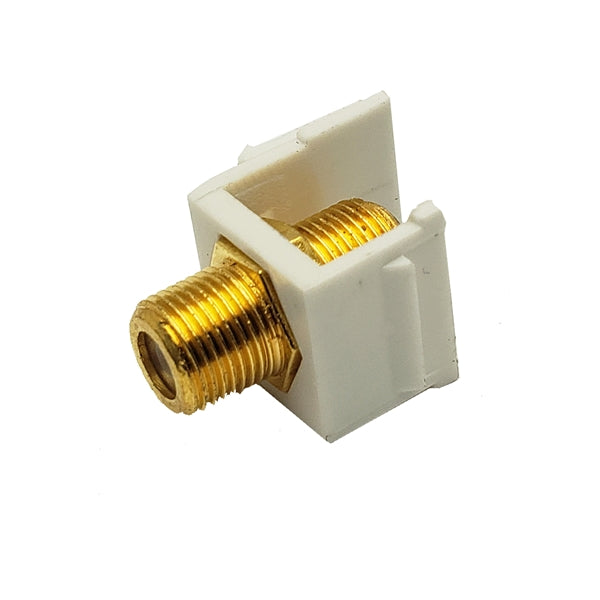 Okta® | Keystone Insert | F81 Coupler, White - Conversions Technology