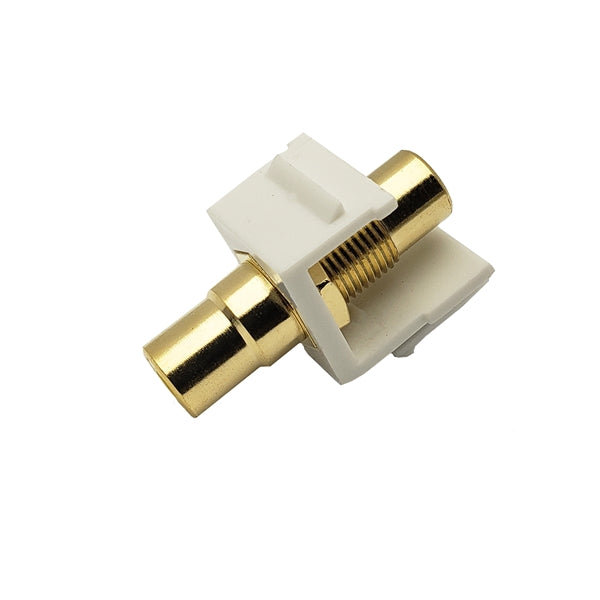 Okta®  |  Keystone Insert  |  RCA,  Coupler Jack,  Gold Plated,  White Insulator - Conversions Technology