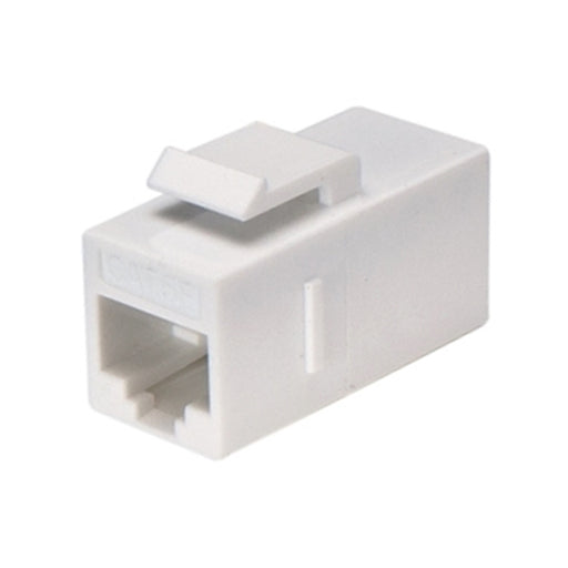 Keystone Insert | Cat6 Keystone Coupler, Unshielded, White - Conversions Technology