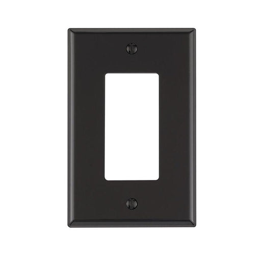 Okta® | Decora Wall Plate | 1 Gang, Black - Conversions Technology
