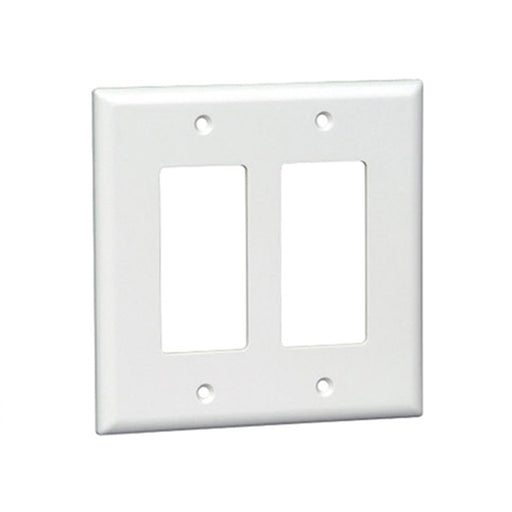 Okta® | Decora Wall Plate | 2 Gang, White - Conversions Technology