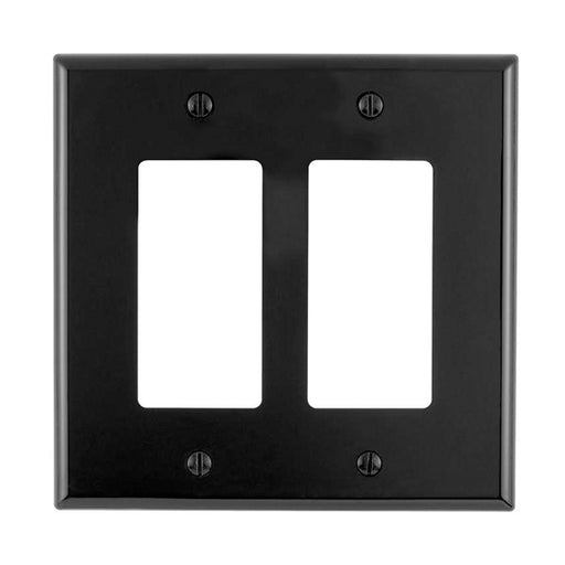 Okta® | Decora Wall Plate | 2 Gang, Black - Conversions Technology