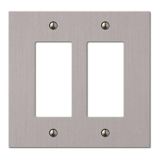 Okta® | Decora Wall Plate | 2 Gang, Nickel - Conversions Technology